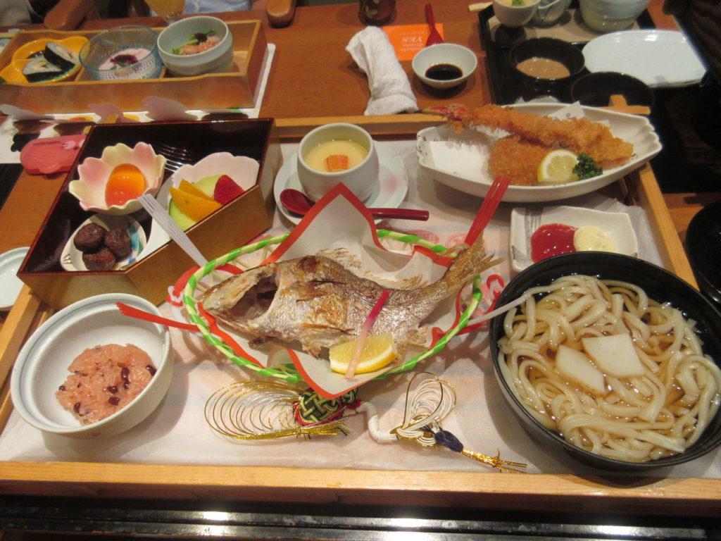 甲羅一歳のお祝い膳