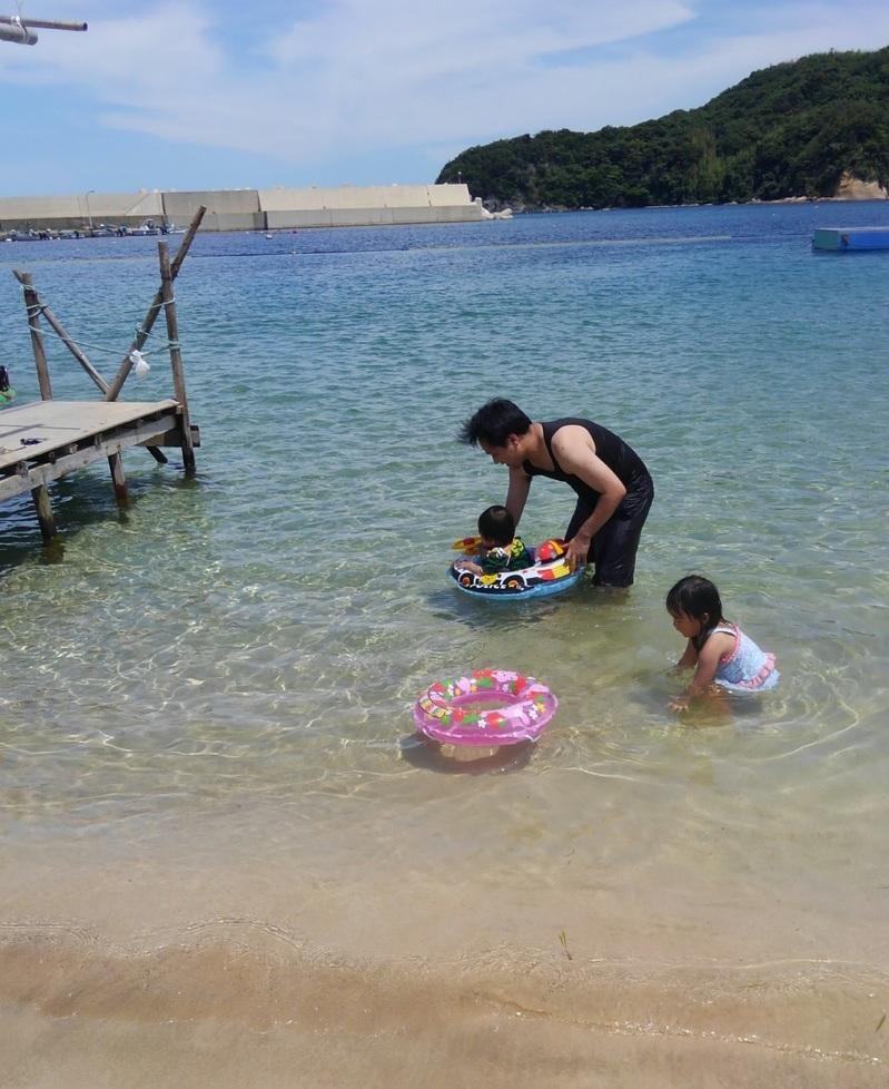 北浦海水浴場の海の様子
