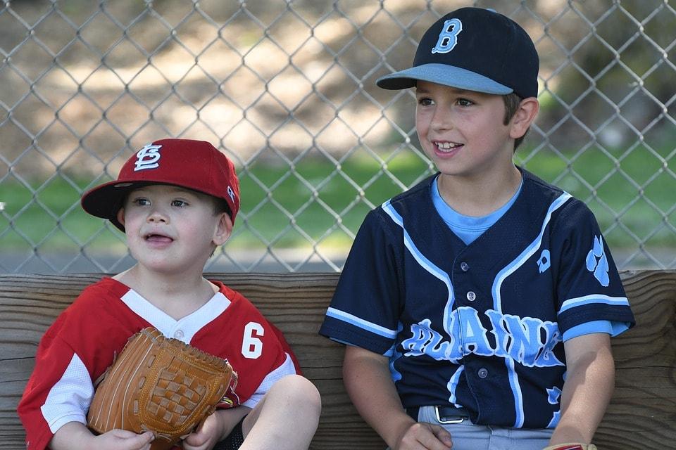 野球少年が2人