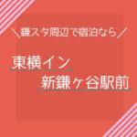 鎌スタ近くで宿泊なら、東横イン新鎌ヶ谷駅前