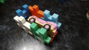 学研のニューブロックで作った車庫