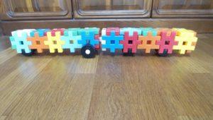 学研のニューブロックで作った電車