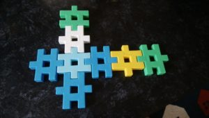 学研のニューブロックで作ったおもちゃ